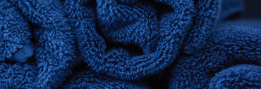 Rolled blue towels