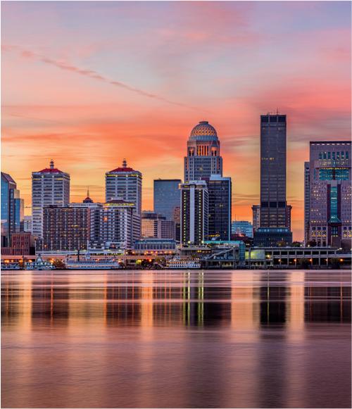 Louisville, Kentucky skyline.