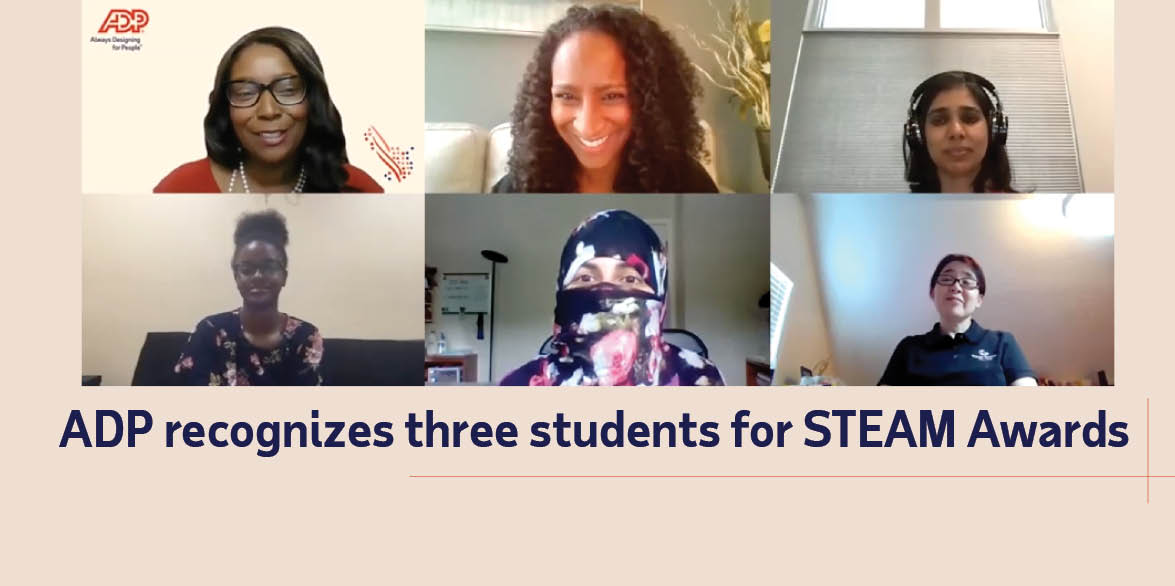 ADP recognizes three students for STEAM Awards