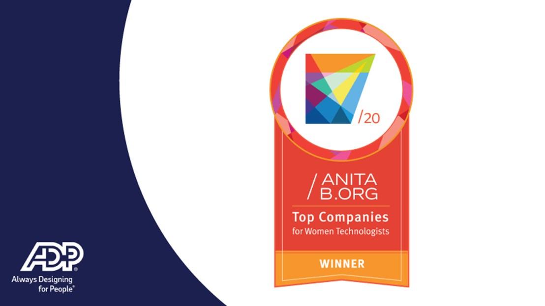 AnitaB.org Top Companies for Women Technologists Winner