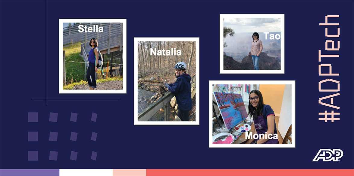 Collage of Stella, Natalia, Tao, Monica