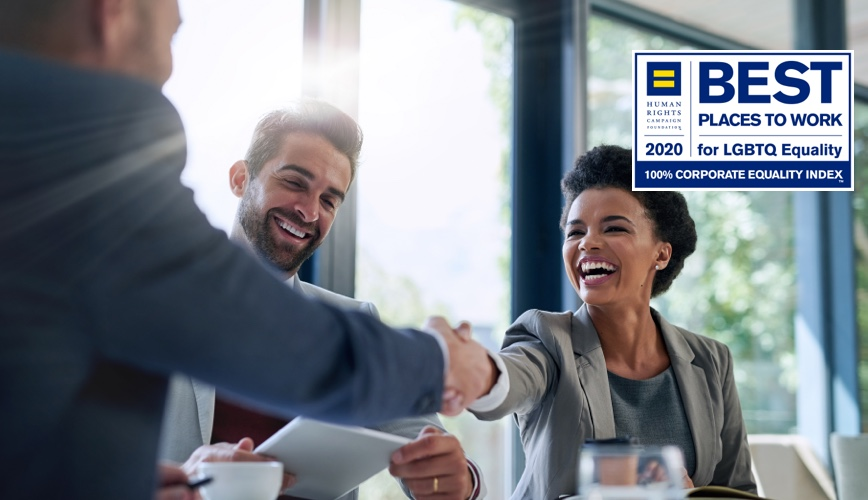 HRCF 2020 Best Places to Work for LGBTQ Equality 100% Corporate Equality Index