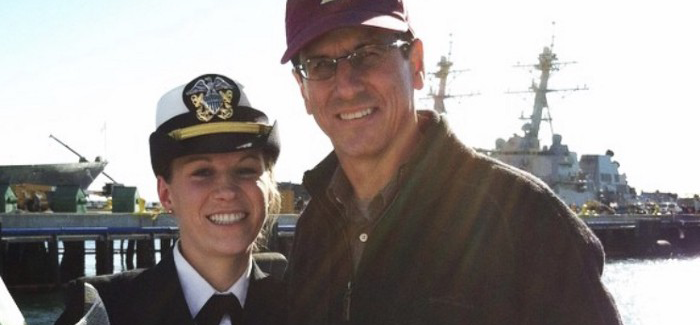Kaitlin O'Donnell, Design Manager, during her time serving as a US Navy Lieutenant