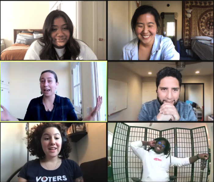 Pin it to Win it: Early Career Web Series attendees on zoom grid screen