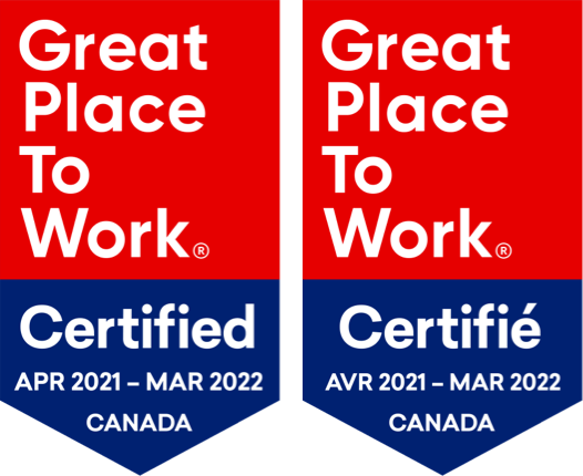 Certified Great Place to Work badge
