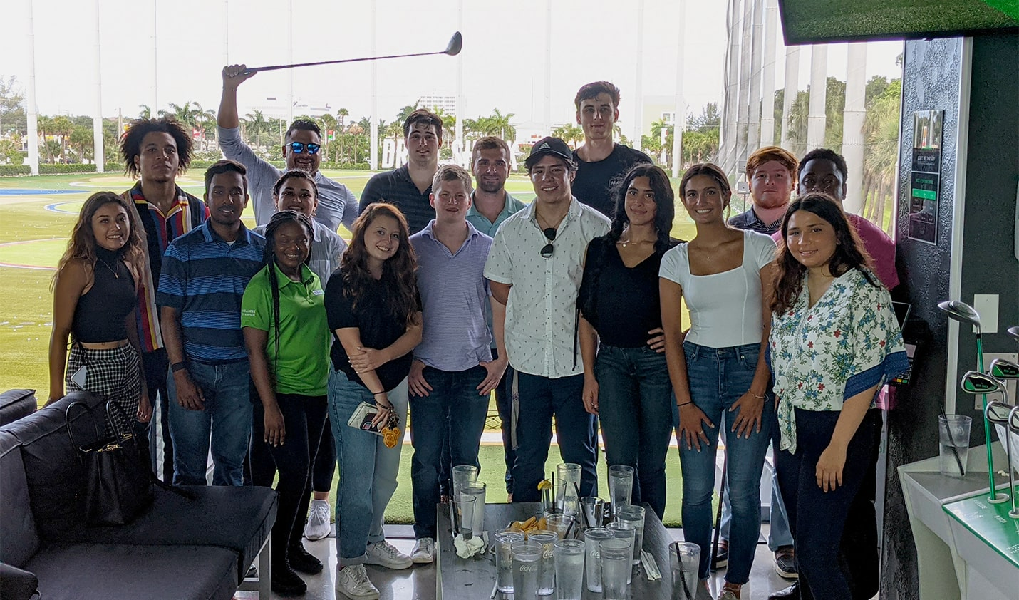 Group of interns posing together