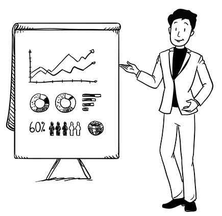 Corporate Man whiteboard