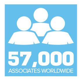 57,000 associates worldwide