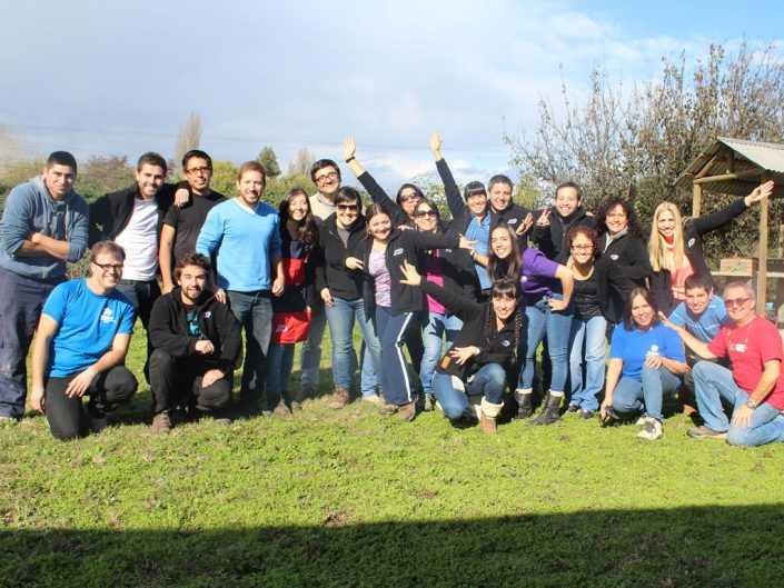 Group of ADP associates who volunteered to serve Habitat for Humanity in Chile.