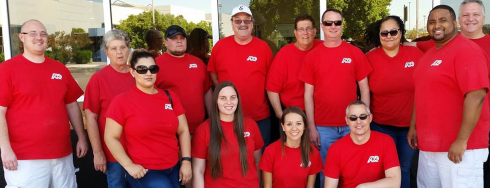 Group photo of ADP employees in front of ADP Chandler, Arizona Office.