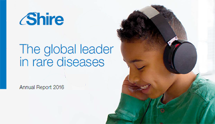Shire: The global leader in rare diseases. Annual Report 2016