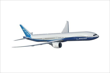 Boeing 777 airplane