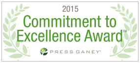 2015 Press Ganey Commitment to Excellence Award