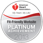 American Heart Association: Fit-friendly worksite Platinum Achievement 2013