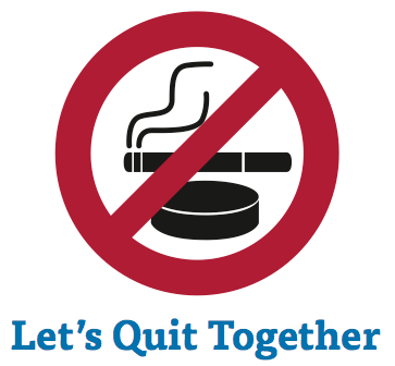 Let's quit smoking together.