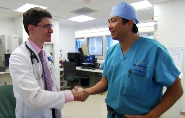 UCLA Health Isaac Handshaking doctor