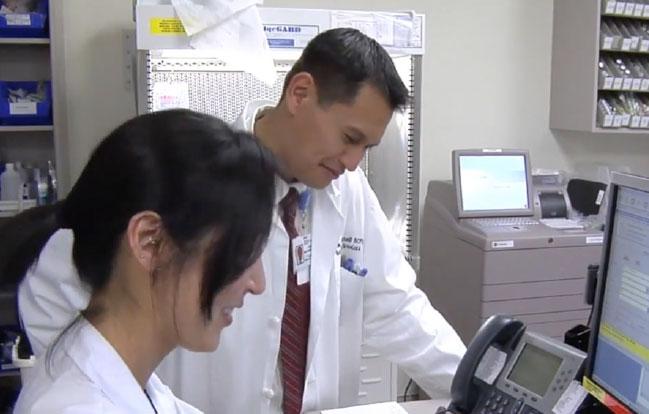 Jason in Lab with Nurse