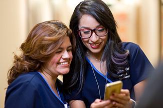 UCLA Helath Two Girls seeing Mobile