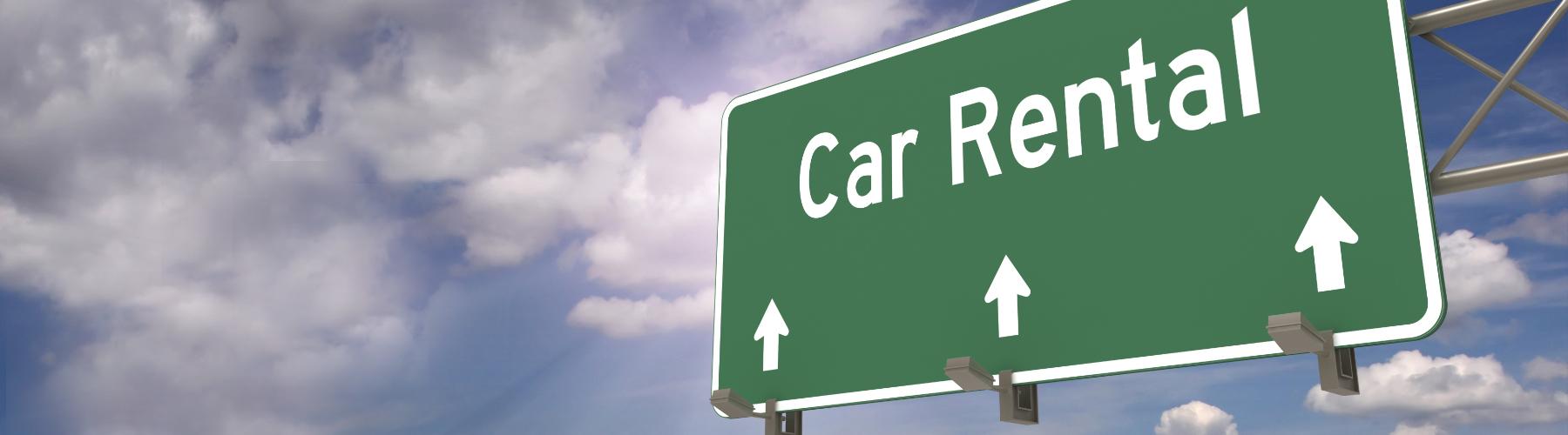 car rental direction signal hording
