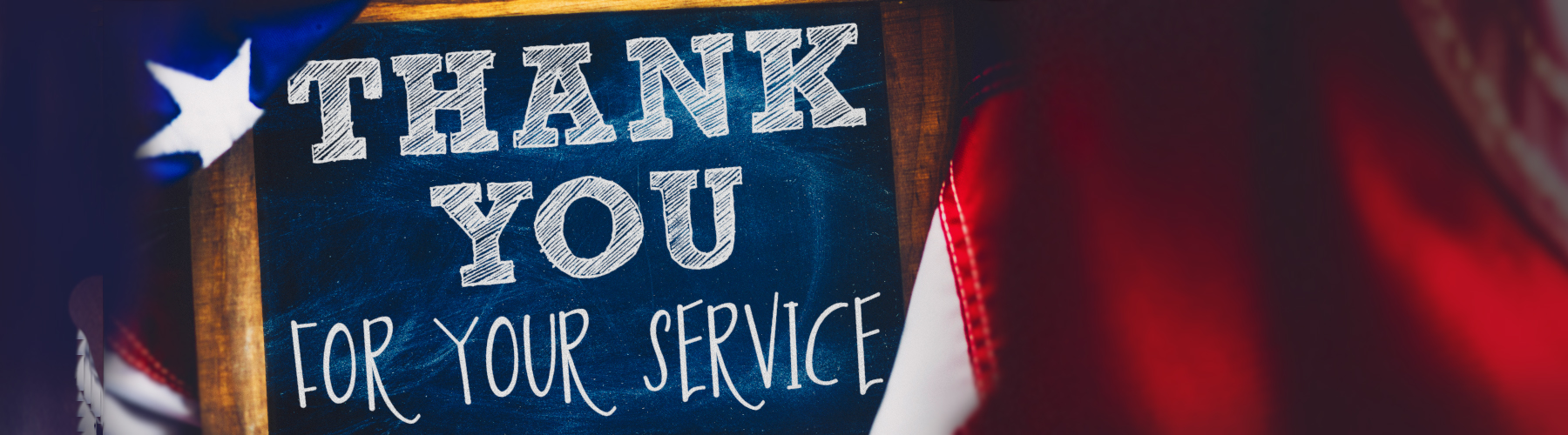 Thank you image for military services