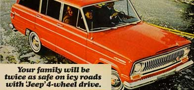 Orange 1960s station wagon