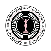 career mastered womens history leadership in action award logo