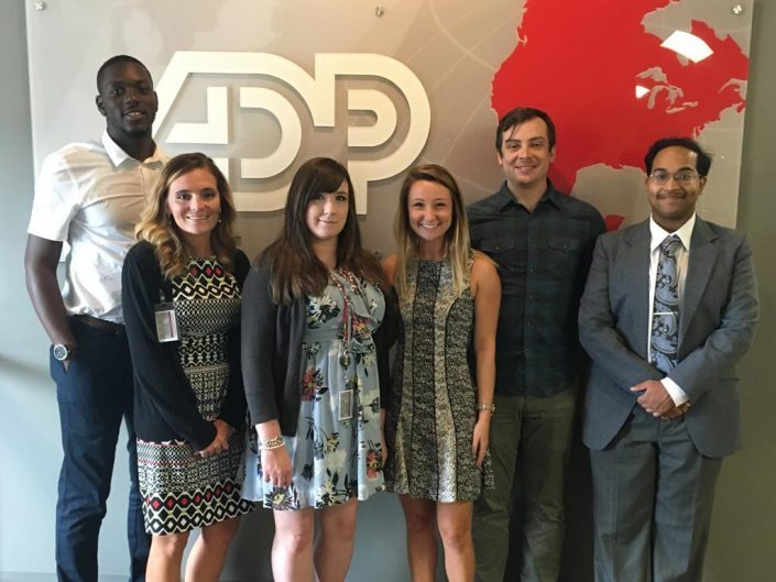 Group of 2016 interns from ADP August, GA office