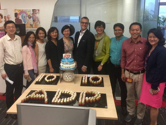 ADP associates celebrating 10 years in China