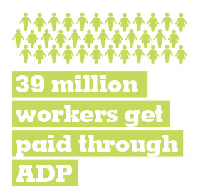 39 million workers get paid through ADP