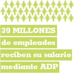 39 millones de empleados reciben sub salario mediante ADP