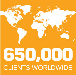 650,000 CLIENTS WORLDWIDE