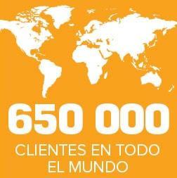 650 000 CLIENTES EN TODO EL MUNDO