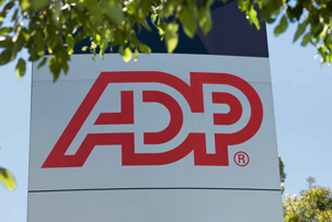 A large ADP sign at the ADP Australia office.