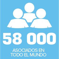 58000 ASOCIADOS EN TODO EL MUNDO