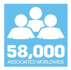 58,000 ASSOCIATES WORLDWIDE