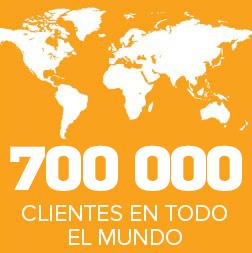 700 000 CLIENTES EN TODO EL MUNDO