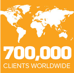 700,000 clients worldwide