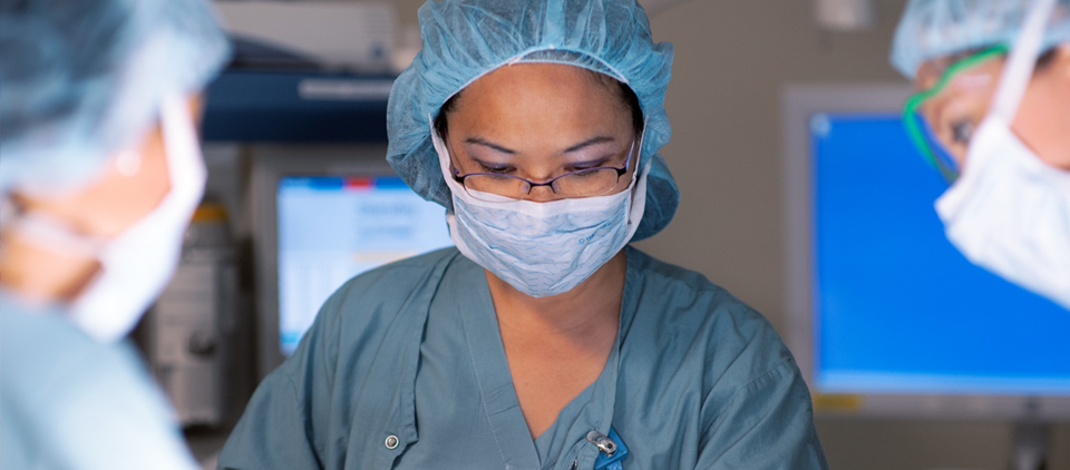 UCLA Health operating room with medical staff