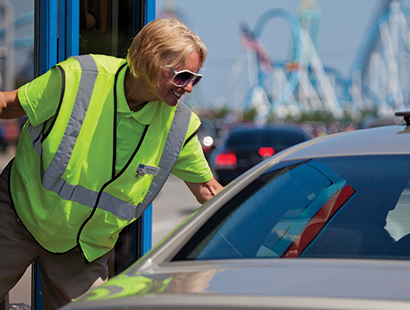 CedarPoint Carousel parking staff