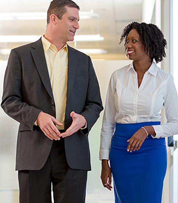 Man & Woman in Corporate