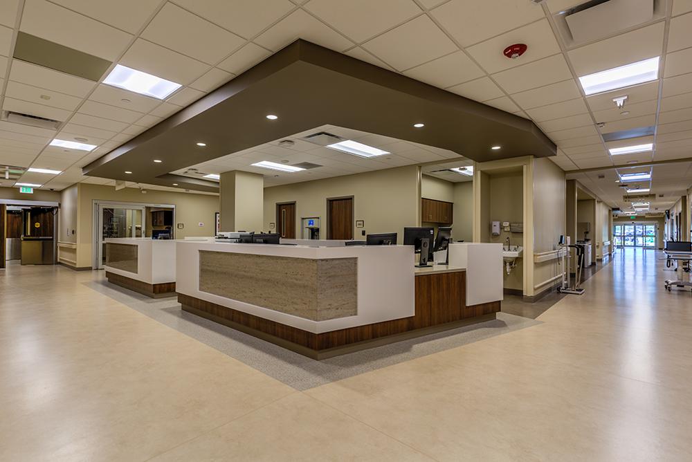 Nurses' station in hospital