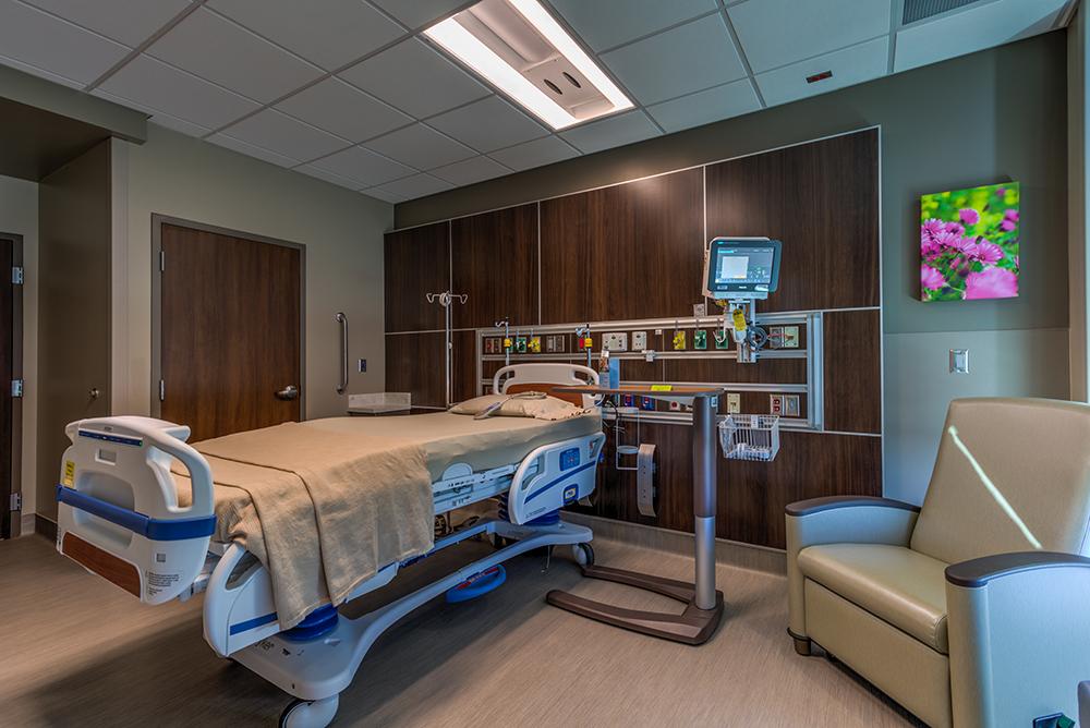 Patient room in hospital