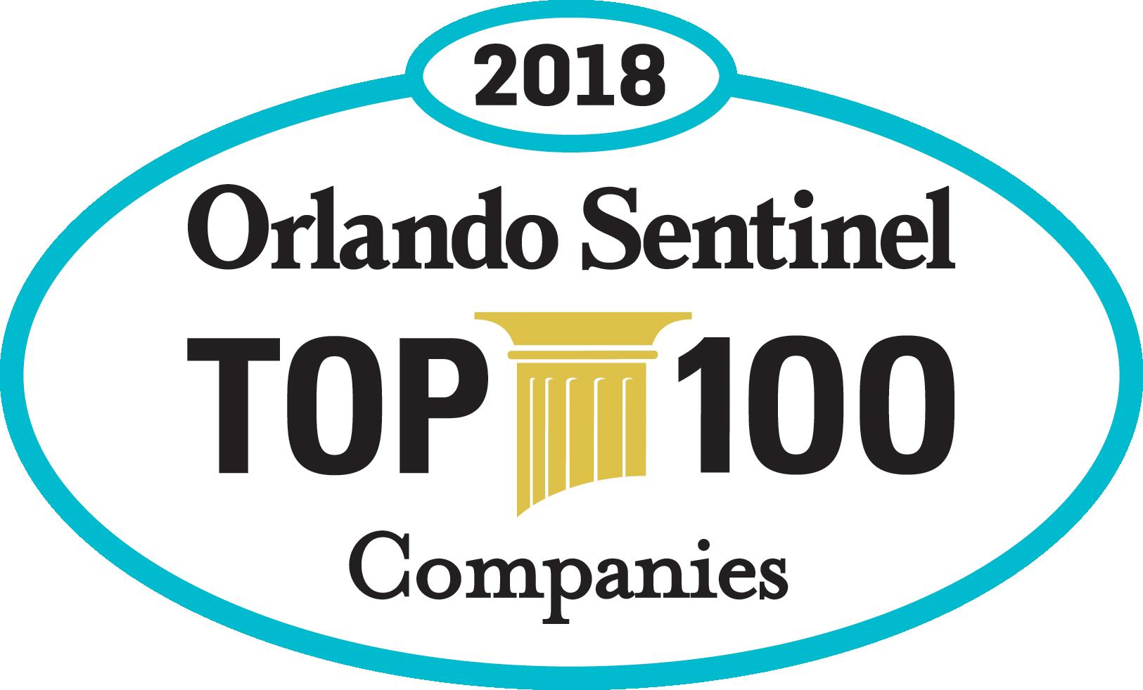 2018 Orlando Sentinel Top 100 Companies