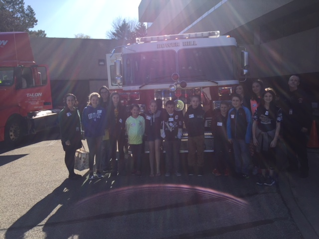 One of our groups with the Bower Hill VFD Fire Truck