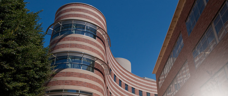 Exterior building shot at David Geffen School of Medicine at UCLA