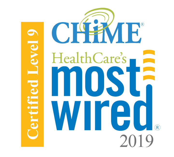 Certified Level 9. CHiME HealthCare's most wired 2019
