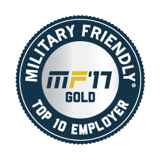 MILITARY FRIENDLY-TOP 10 EMPLOYER