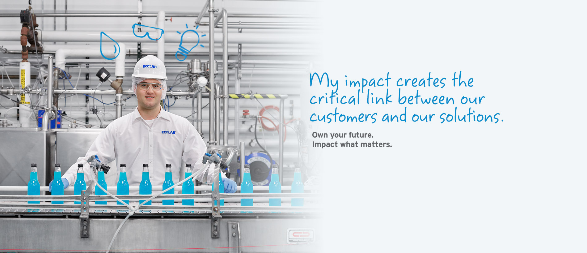 My impact creates the critical link between our customers and our solutions. Own your future. Impact what matters.