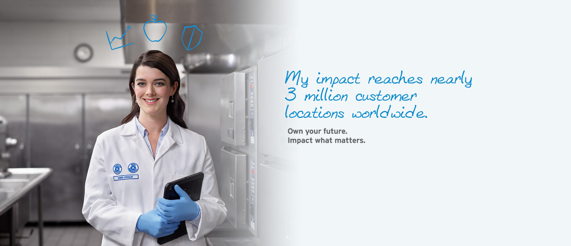 My impact reaches nearly 3 million customer locations worldwide. Own your future. Impact what matters.