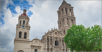 Historic Saltillo Cathedral in Saltillo, Mexico